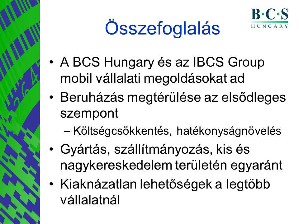 Összefoglalás A BCS Hungary és az IBCS Group mobil vállalati megoldásokat ad. Beruházás megtérülése az elsődleges szempont.