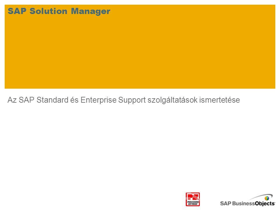 Az SAP Standard és Enterprise Support szolgáltatások ismertetése