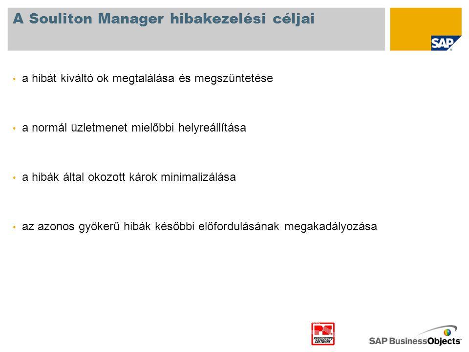 A Souliton Manager hibakezelési céljai