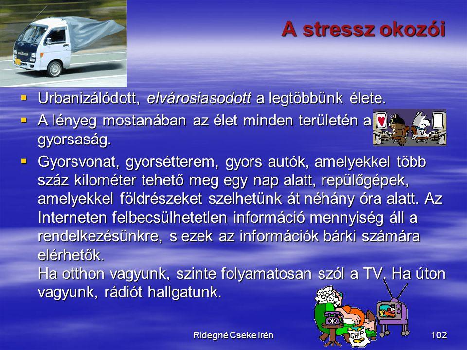 A stressz okozói Urbanizálódott, elvárosiasodott a legtöbbünk élete.