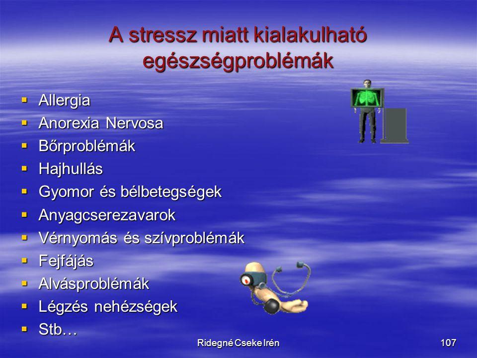 A stressz miatt kialakulható egészségproblémák