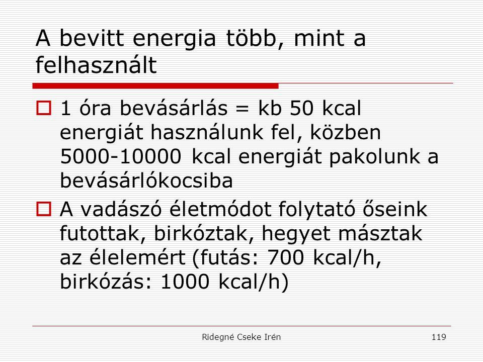 A bevitt energia több, mint a felhasznált