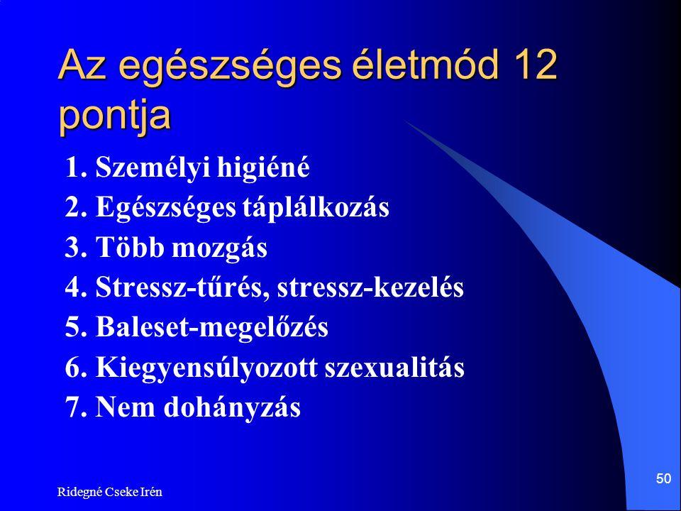 Az egészséges életmód 12 pontja