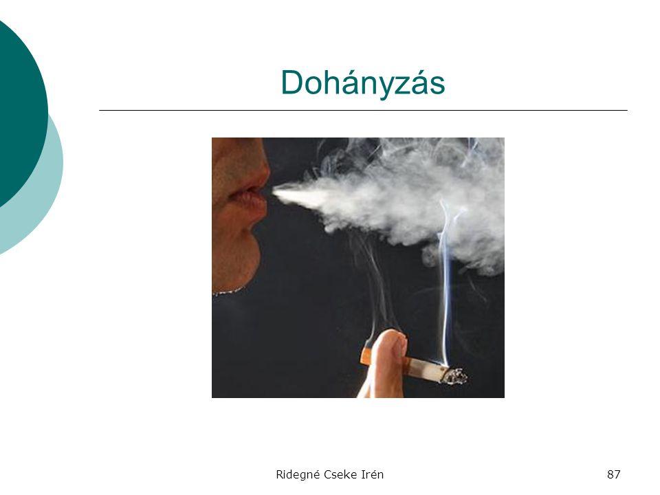 Dohányzás Ridegné Cseke Irén