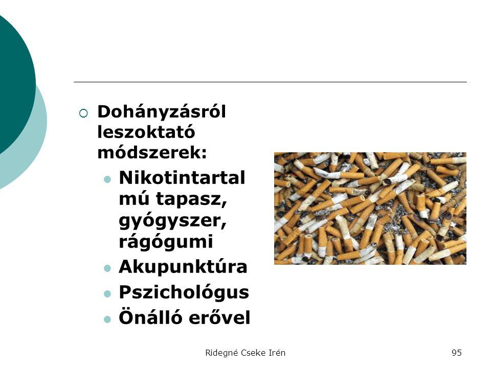 Nikotintartalmú tapasz, gyógyszer, rágógumi