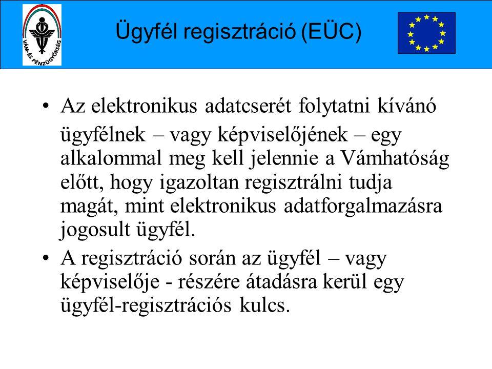 Ügyfél regisztráció (EÜC)