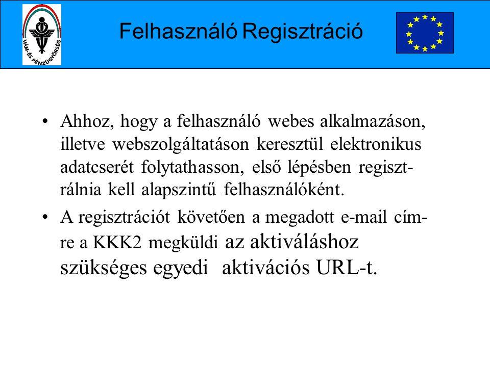 Felhasználó Regisztráció
