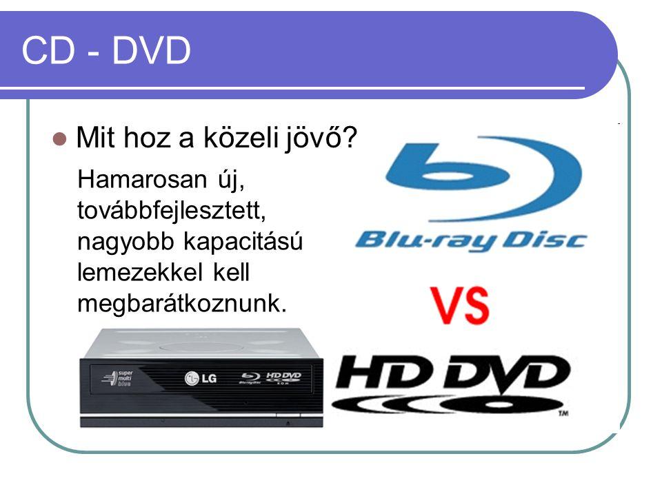 CD - DVD Mit hoz a közeli jövő