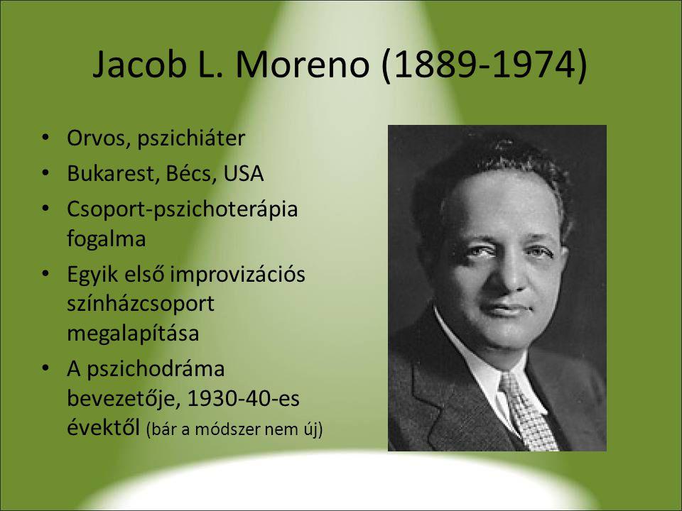 Jacob L. Moreno (1889-1974) Orvos, pszichiáter Bukarest, Bécs, USA