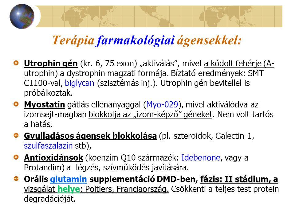 Terápia farmakológiai ágensekkel: