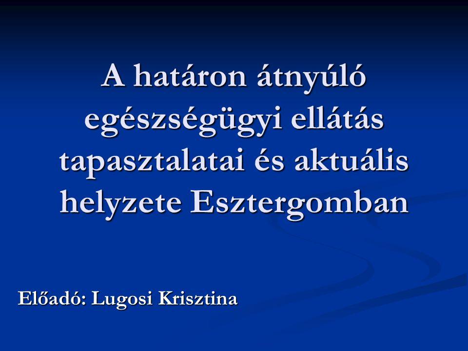 Előadó: Lugosi Krisztina