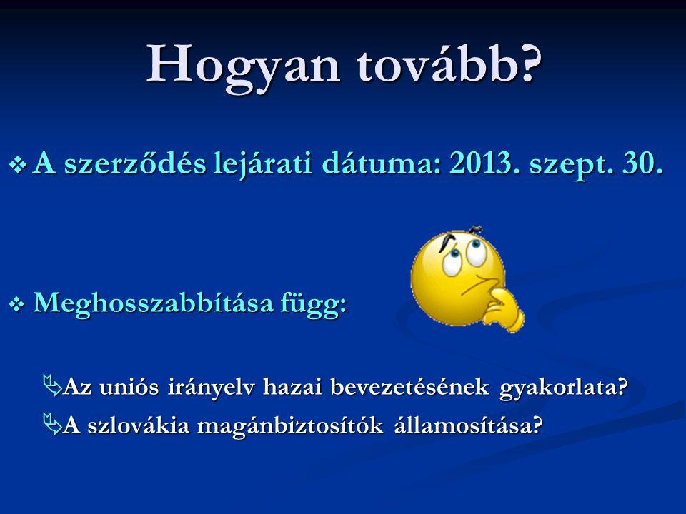 Hogyan tovább A szerződés lejárati dátuma: 2013. szept. 30.