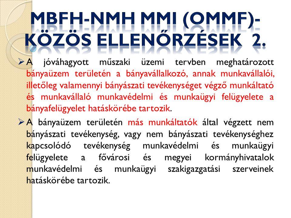 MBFH-NMH MMI (OMMF)- közös ellenőrzések 2.