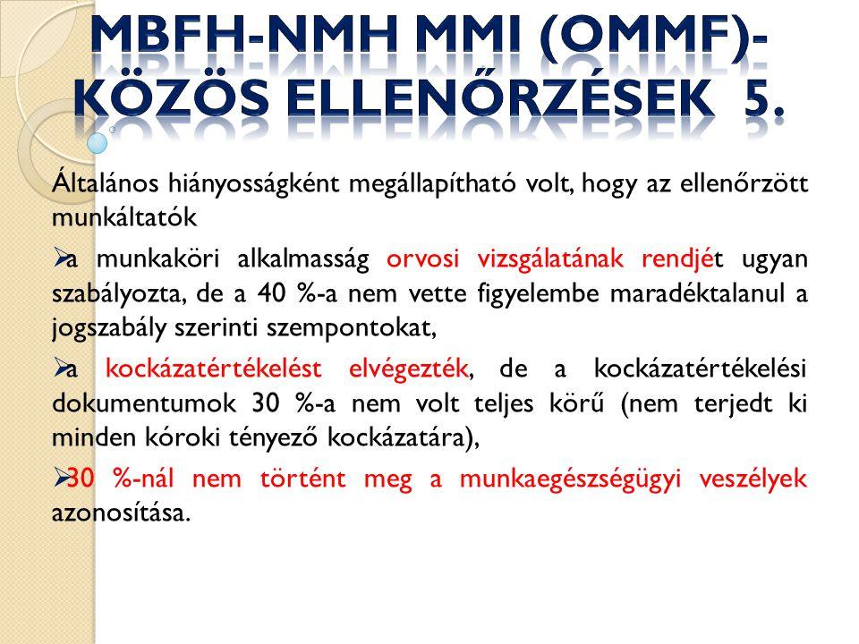 MBFH-NMH MMI (OMMF)- közös ellenőrzések 5.