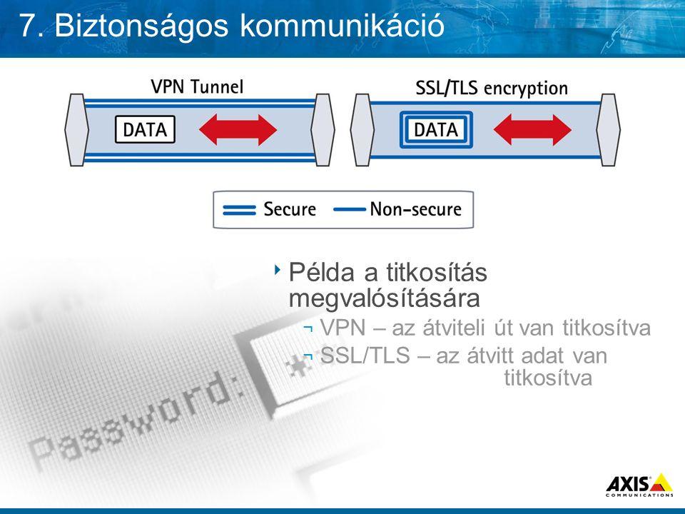 7. Biztonságos kommunikáció
