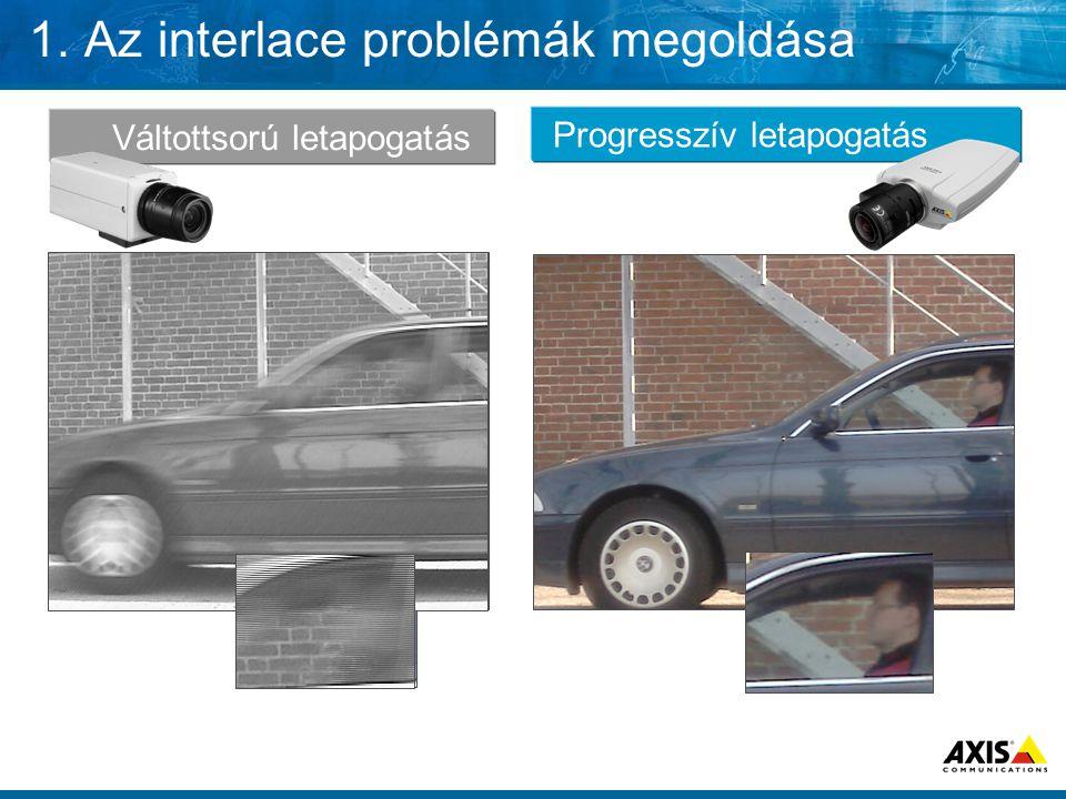 1. Az interlace problémák megoldása