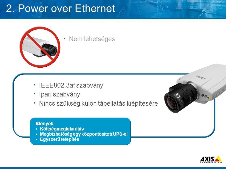 2. Power over Ethernet Nem lehetséges IEEE802.3af szabvány