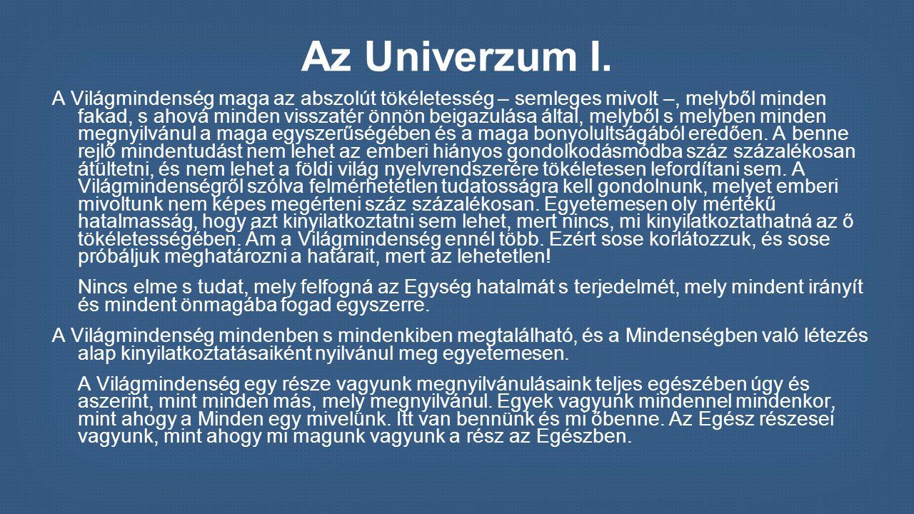 Az Univerzum I.