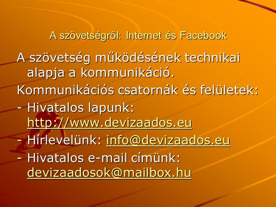 A szövetségről: Internet és Facebook