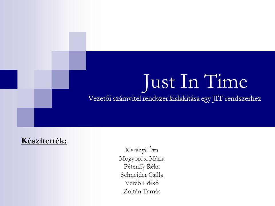 Just In Time Vezetői számvitel rendszer kialakítása egy JIT rendszerhez