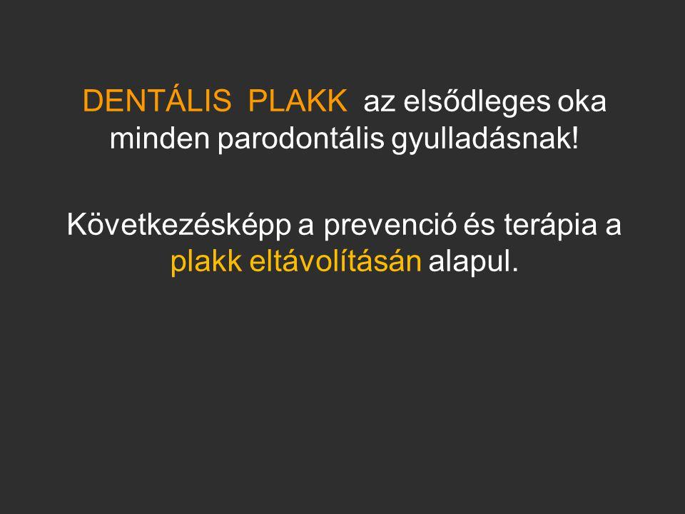 DENTÁLIS PLAKK az elsődleges oka minden parodontális gyulladásnak!