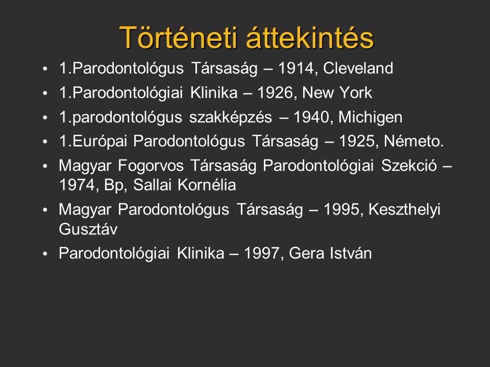Történeti áttekintés 1.Parodontológus Társaság – 1914, Cleveland