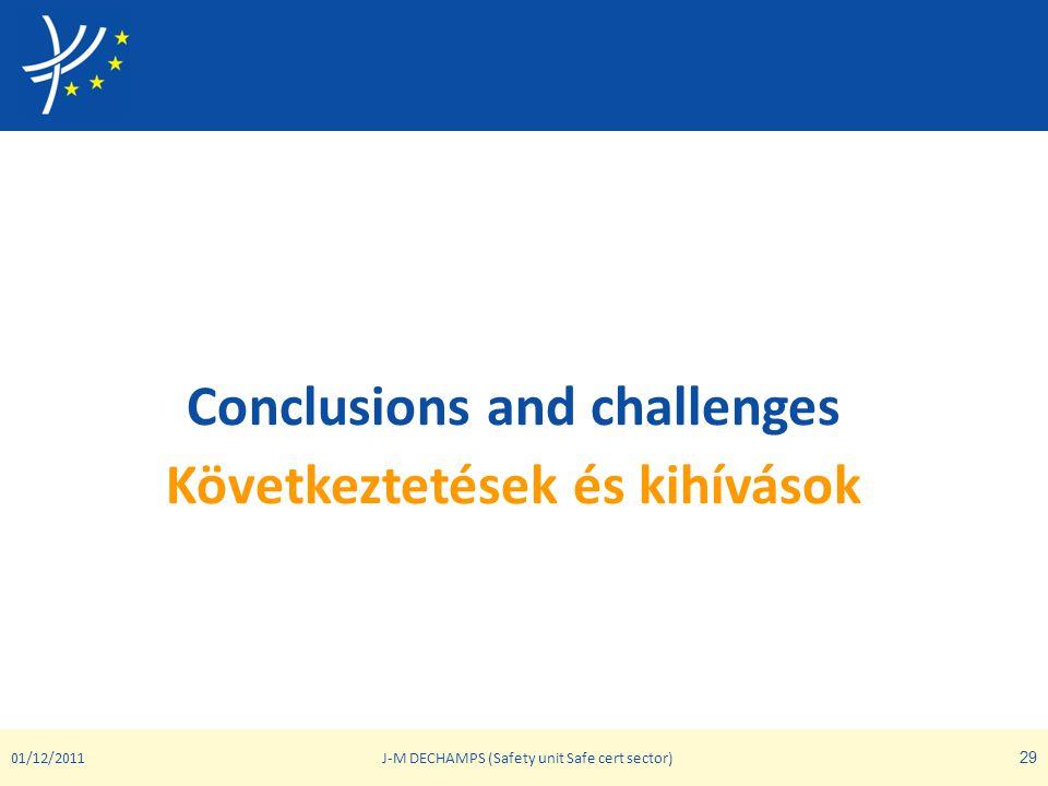 Conclusions and challenges Következtetések és kihívások