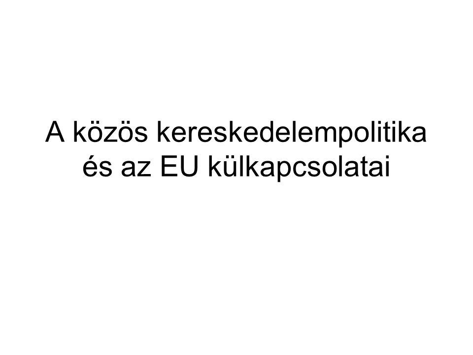 A közös kereskedelempolitika és az EU külkapcsolatai