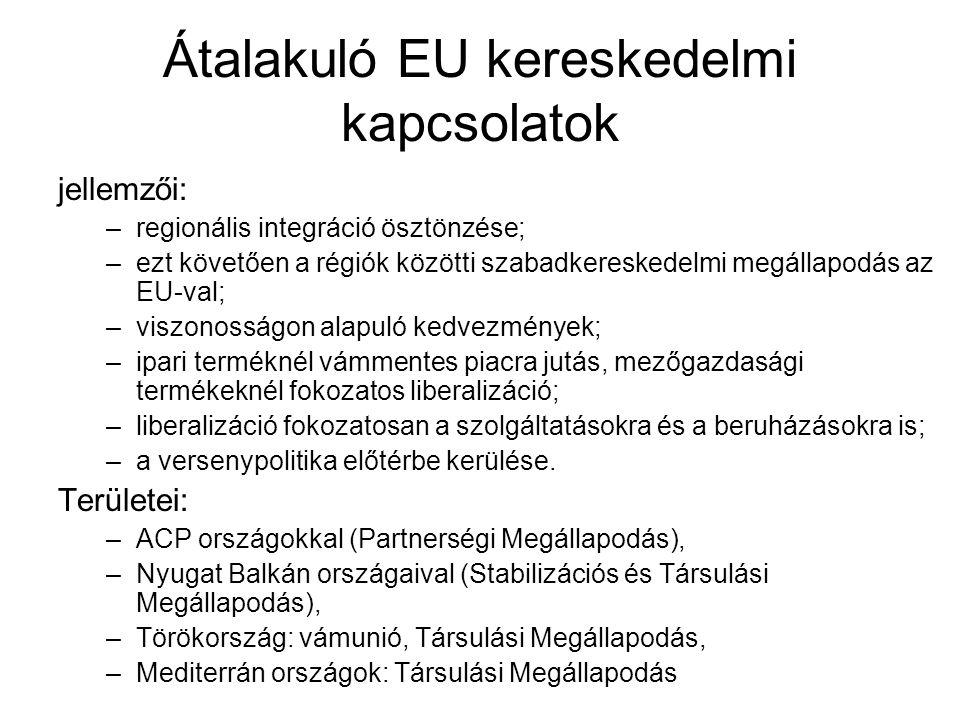 Átalakuló EU kereskedelmi kapcsolatok