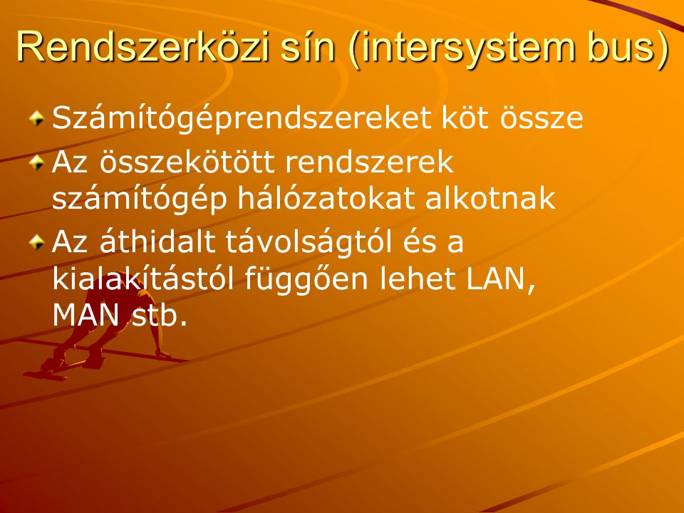 Rendszerközi sín (intersystem bus)