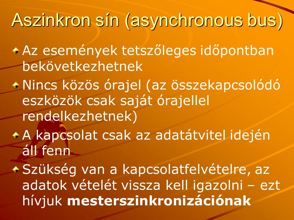 Aszinkron sín (asynchronous bus)