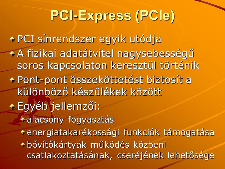 PCI-Express (PCIe) PCI sínrendszer egyik utódja