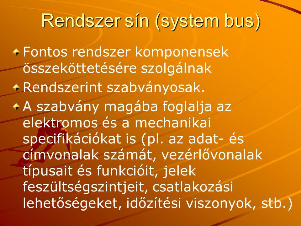 Rendszer sín (system bus)