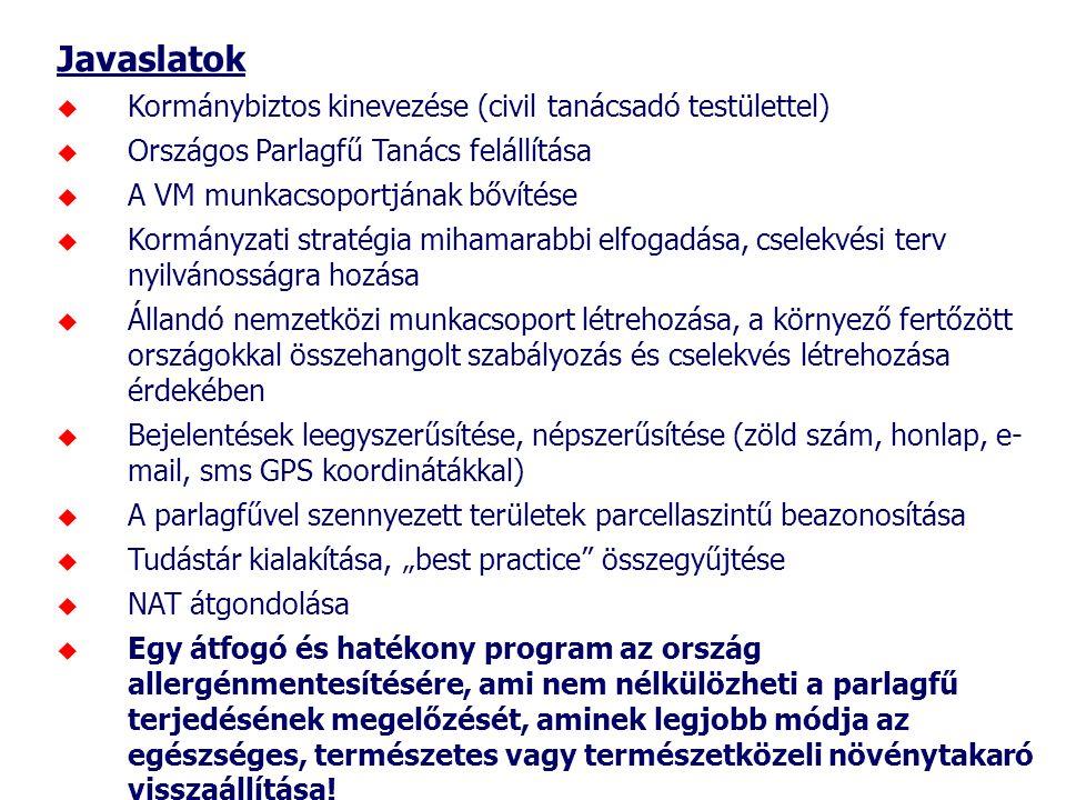 Javaslatok Kormánybiztos kinevezése (civil tanácsadó testülettel)