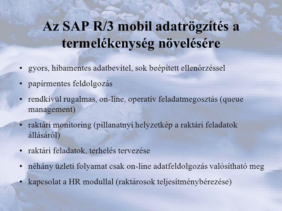 Az SAP R/3 mobil adatrögzítés a termelékenység növelésére