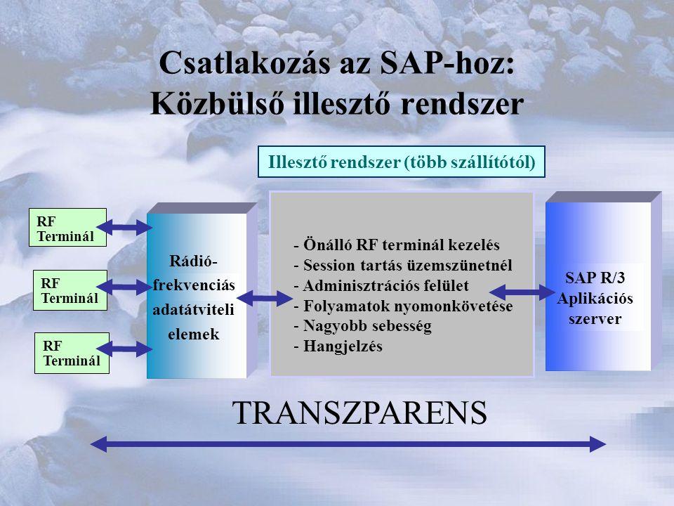 Csatlakozás az SAP-hoz: Közbülső illesztő rendszer
