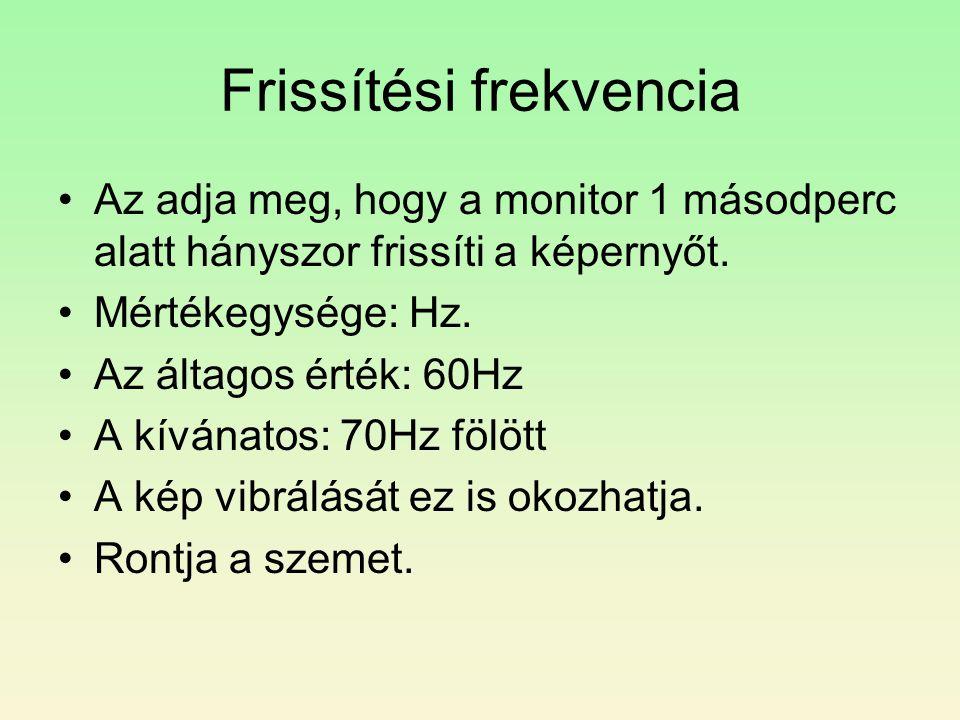 Frissítési frekvencia