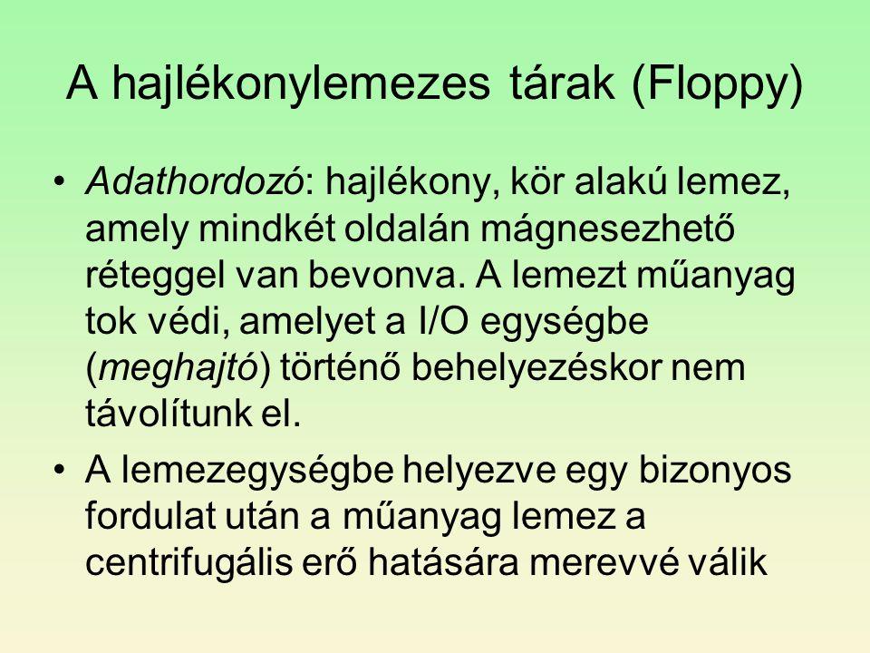 A hajlékonylemezes tárak (Floppy)