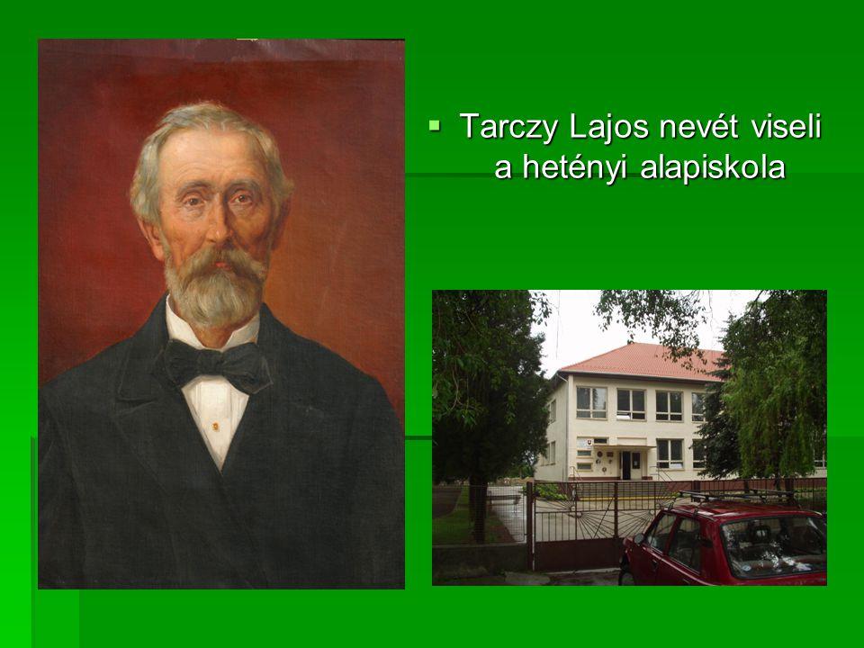 Tarczy Lajos nevét viseli a hetényi alapiskola