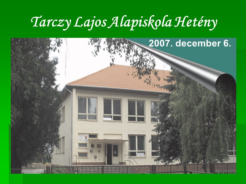 Tarczy Lajos Alapiskola Hetény