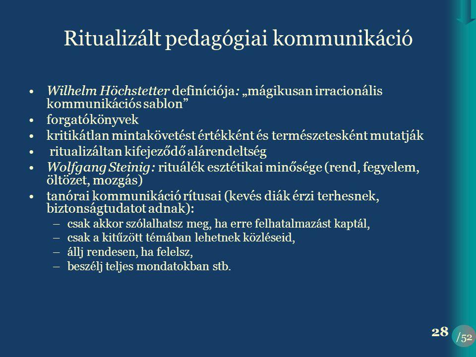 Ritualizált pedagógiai kommunikáció