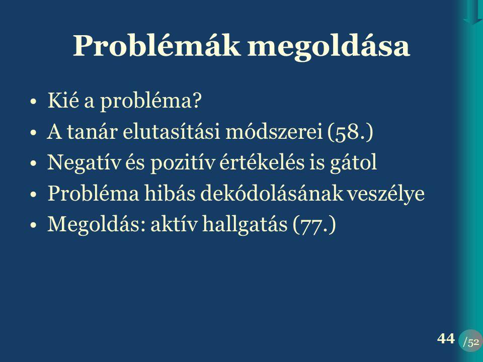 Problémák megoldása Kié a probléma