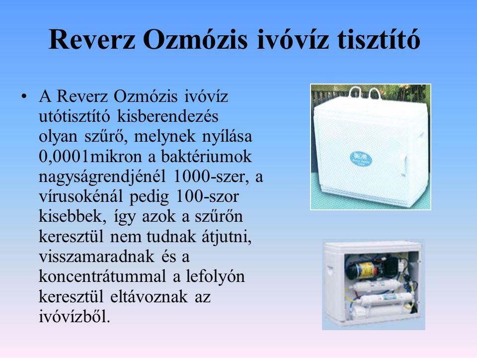 Reverz Ozmózis ivóvíz tisztító