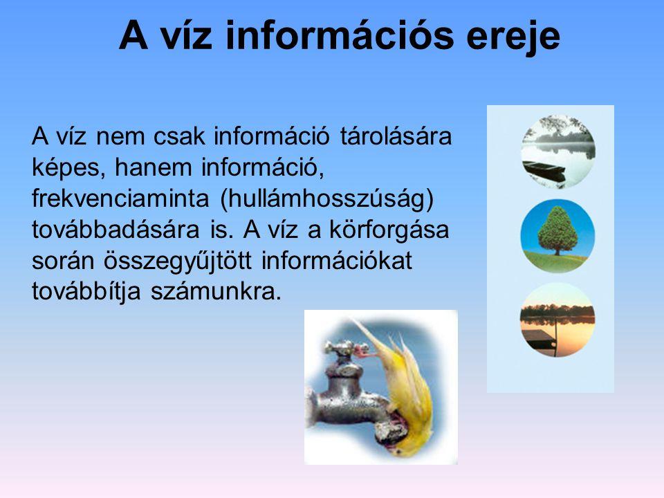 A víz információs ereje
