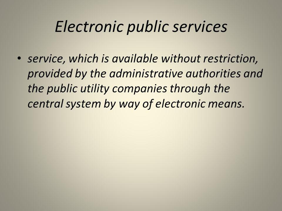 Electronic public services