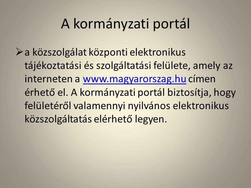 A kormányzati portál