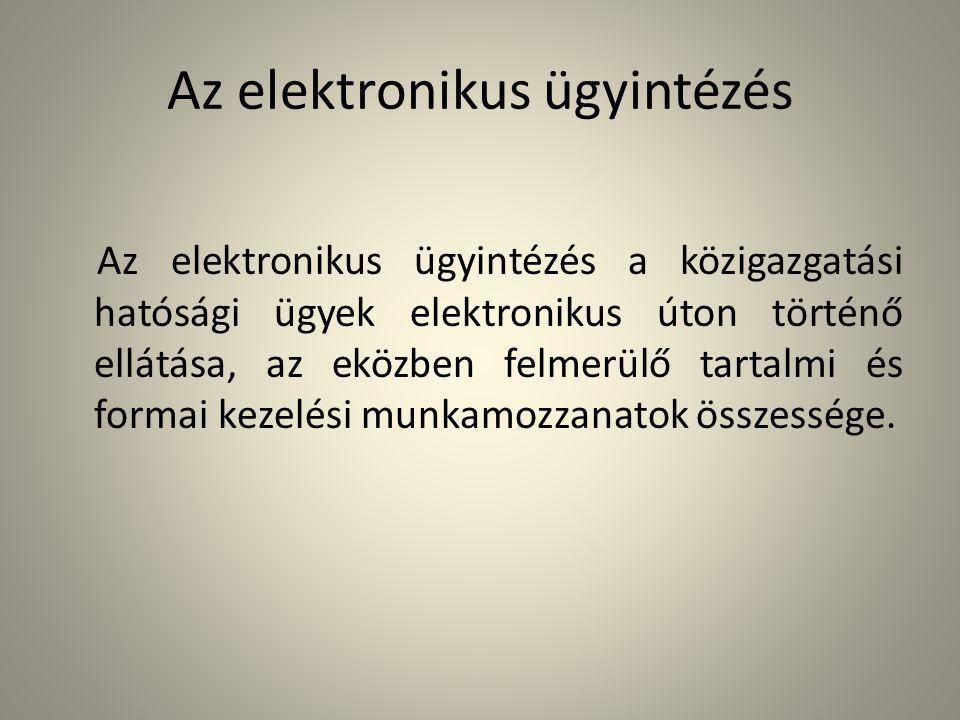 Az elektronikus ügyintézés
