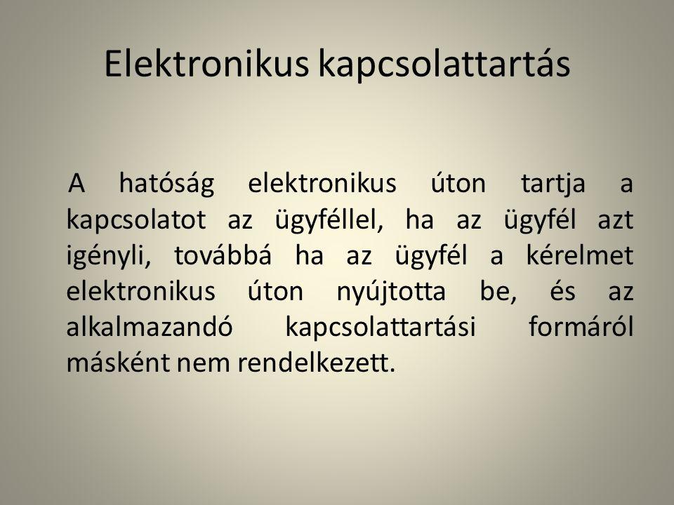 Elektronikus kapcsolattartás