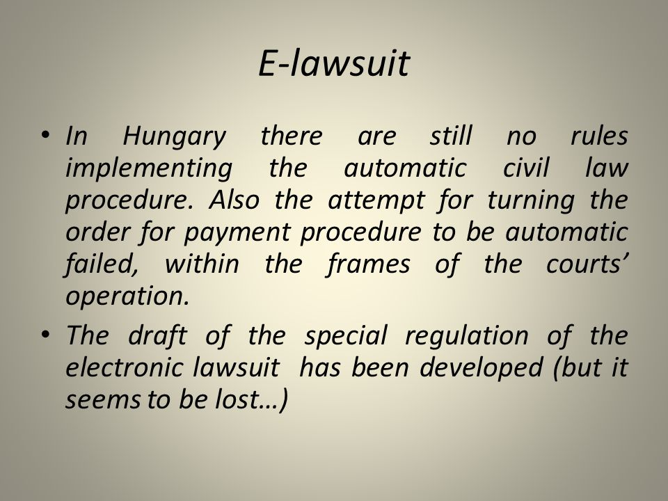 E-lawsuit