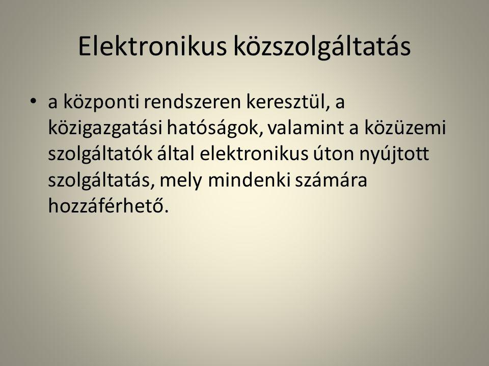 Elektronikus közszolgáltatás
